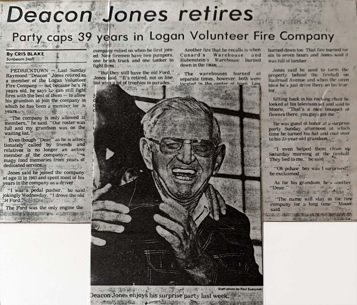 Newspaper article - Deacon Jones retires