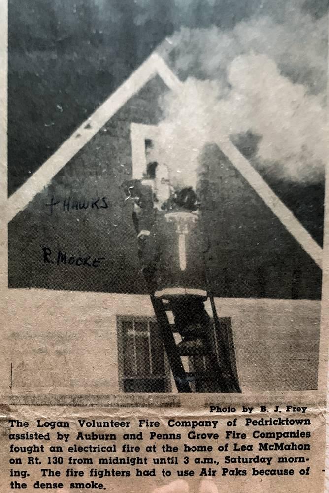 Pedricktown, Auburn & Penns Grove Fire Companies fight an electrical fire in a home.