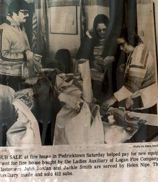 Newspaper clipping of ladies auxilliary