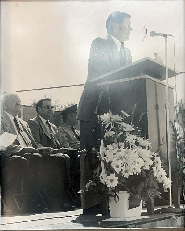 Man speaking from podium