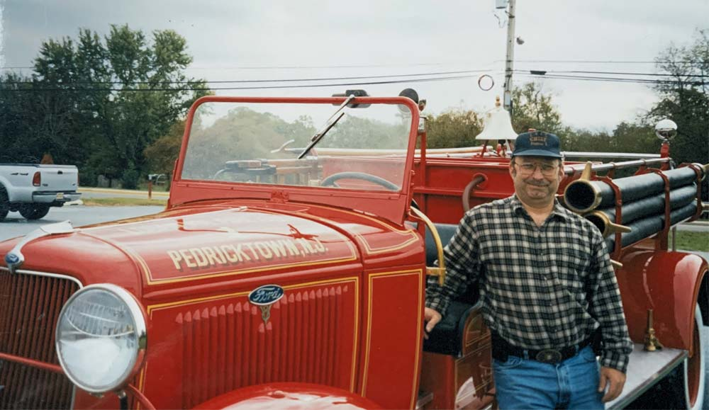 Gary Moore by antique firetruck
