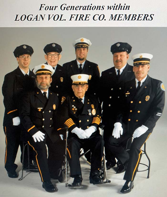 Four generation within the fire company